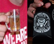 Image of Tuesday Night Hootenanny Shot Glass Mug & Can Coolie