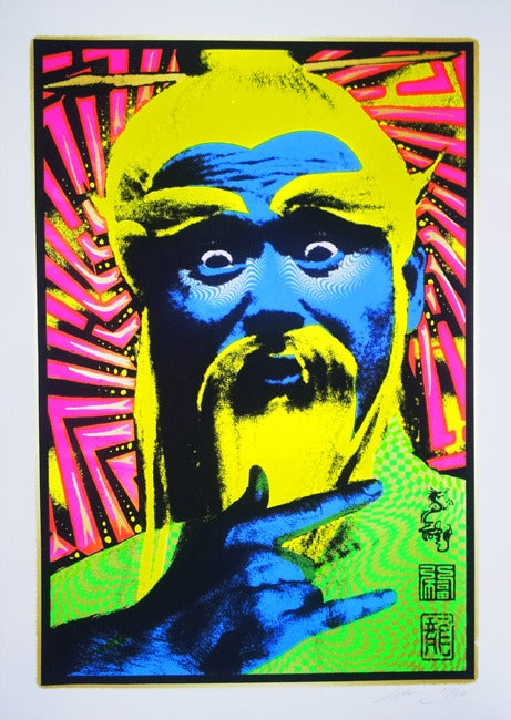 Image of  Pei Mei - Kill Bill - 2012 - Black Light Responsive Art Print