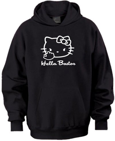 Image of Hella Bastos Kitty Hoodie (black)