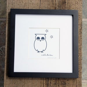 Image of Penelope the Owl - Reach for the Stars - 5x5 Print