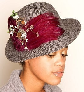 "Image of ""Francoise"" Vintage Fedora Feather Hat"