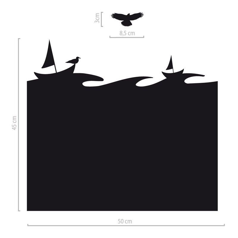 Image of Fensteraufkleber Boote und Vogel