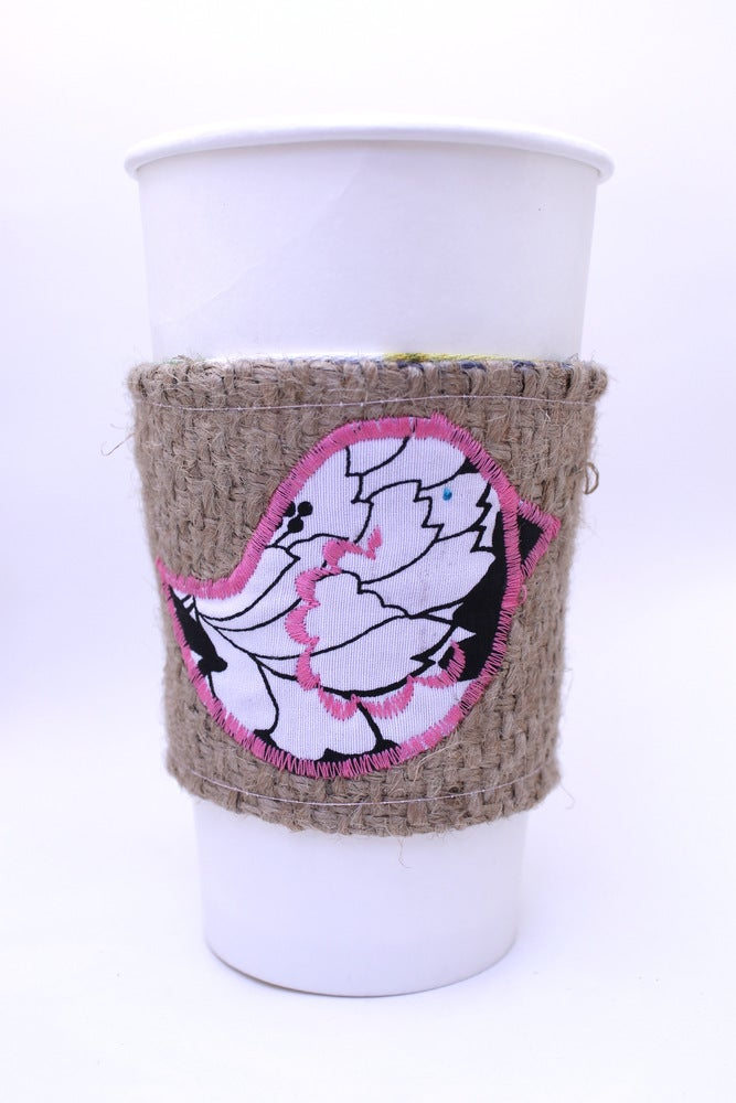 Image of Coffee Cozy Pretty Bird