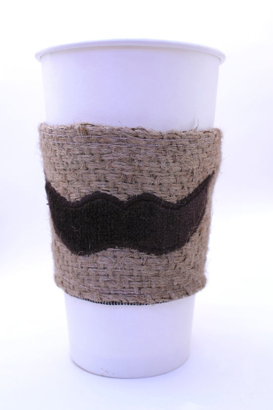 Image of Mustache Coffee Cozy