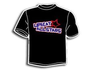 Image of Colour-On-Black Tshirt