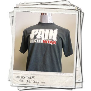 Image of PAINFIGHTWEAR 'THE ONE' MENS T'SHIRT DARK HEATHER