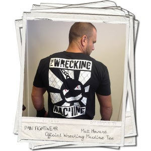 Image of PAINFIGHTWEAR'S 'THE WRECKING MACHINE' T'SHIRT BLACK