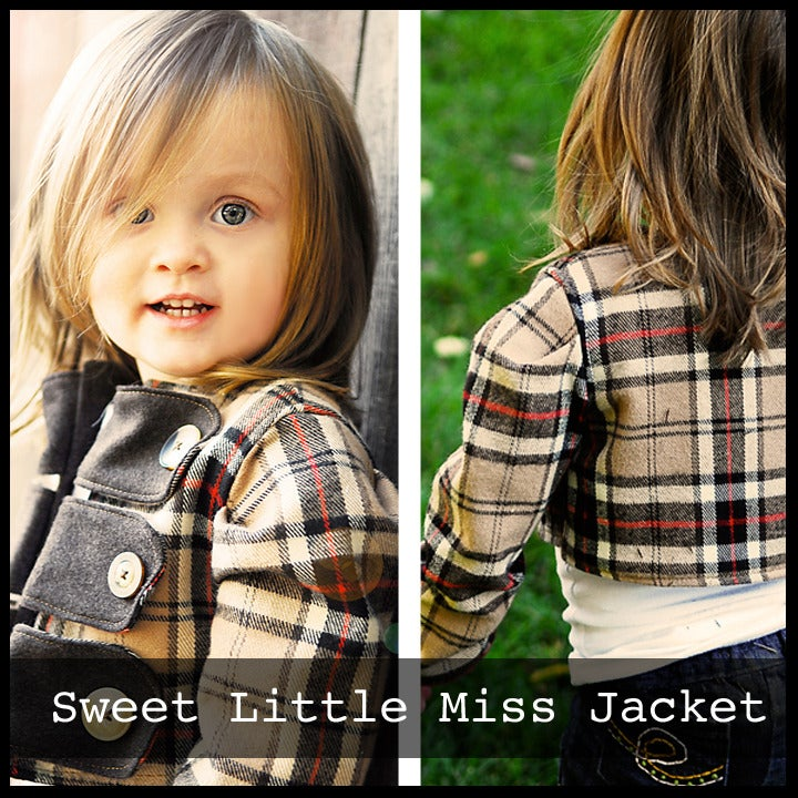 Image of Sweet Little Miss Jacket Pattern sizes 6M-6Y