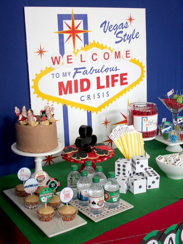 Image of  Vegas Midlife Crisis printable Birthday Party collection by wants and wishes