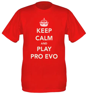 Image of Keep Calm And Play Pro Evo: T-Shirt | Red