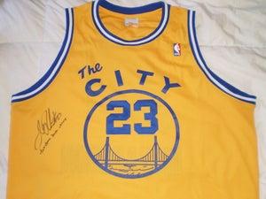 "Image of Jason ""J-Rich"" Richardson Throwback Warriors Signed Authentic Jersey"