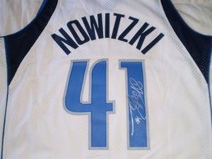 Image of Dirk Nowitzki Signed Swingman Home Jersey