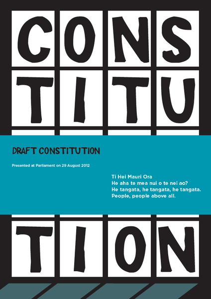 Image of 2012 Draft Constitution from the EmpowerNZ Workshop