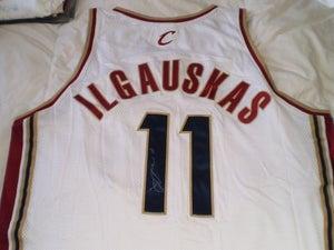 "Image of Žydrūnas ""Big Z"" Ilgauskas Signed Authentic Cavs Home Jersey with Team COA"