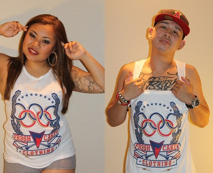 "Image of Fr3sh & Cakey ""Olympics"" Men's Tank Top in White"