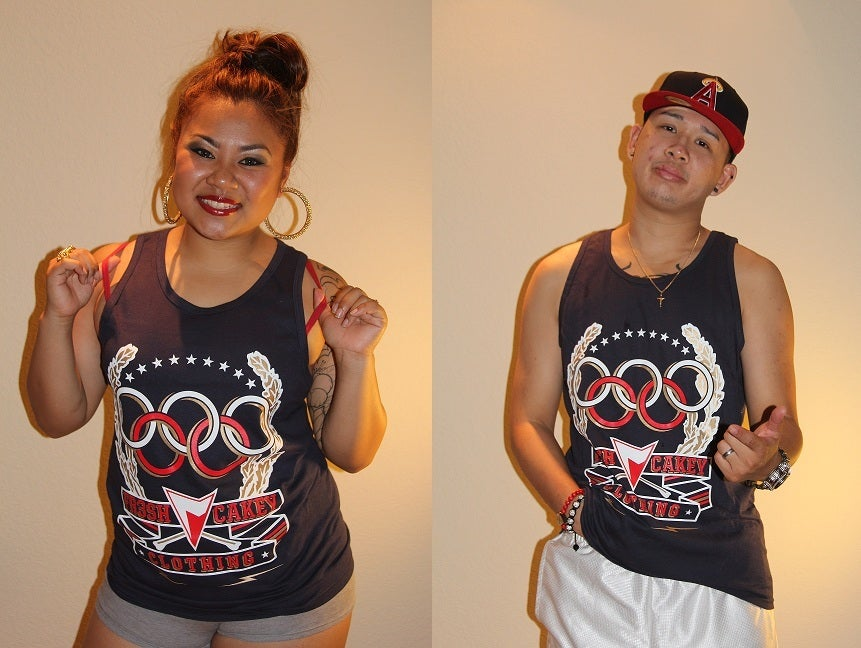"Image of Fr3sh & Cakey ""Olympics"" Men's Tank Top in Navy"