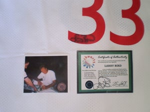Image of Larry Bird Signed Schwartz Sports Signed 1981-1982 All Star