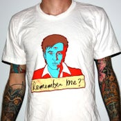 """Image of Bill Hicks """"Remember Me?"""" by Jermaine Rogers T-Shirt - AA White"""