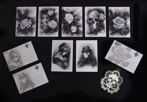 Image of PluraBella Postcard Set- Artwork by Kore Flatmo_7 Cards