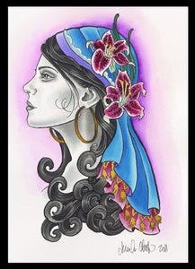 Image of Gypsy Lady- Lily Print by Brenda Flatmo