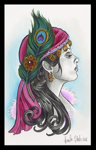 Image of Gypsy Lady- Peacock Print- Brenda Flatmo