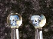 Image of Glass Skull Knitting Needles