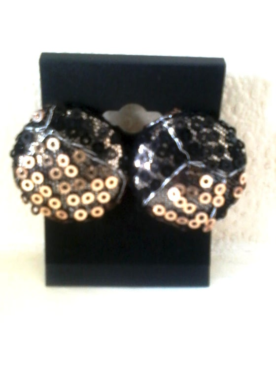 Image of Vekras Sparkly Sequined Stud Earrings
