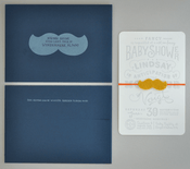 Image of Mustache Baby Shower Invitation - Custom