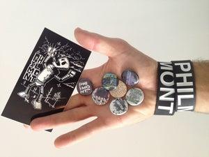 Image of Sticker/Button/Bracelet Pack