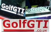 Image of golfgti.co.uk logo stickers