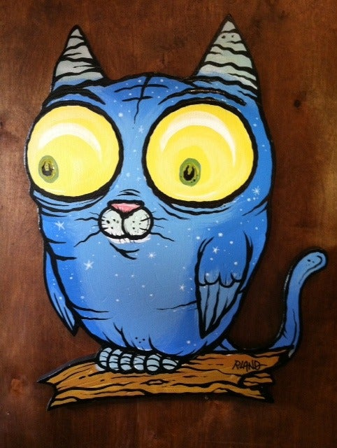 Image of Meowl wall art