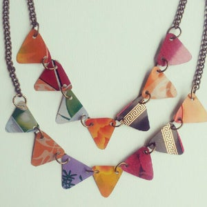 """Image of """"Tin Pan Alley"""" Bunting Necklace"""