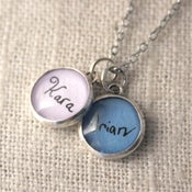 Image of 12 mm Your Child's Handwriting Charm You Choose Color