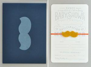 Image of Mustache Baby Shower Invitation