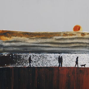 Image of Sun Sinking over the Doom Bar, Rock, Cornwall