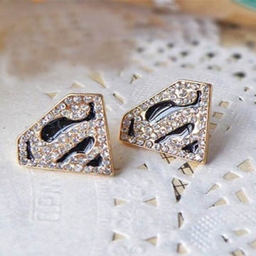 Image of Superman Stud Earrings