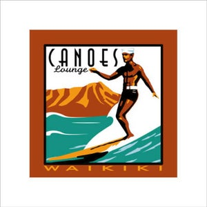 """Image of """"CANOES LOUNGE"""" Serigraph"""