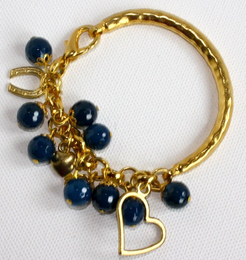 Image of Golden blue heart