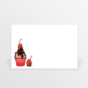 Image of cupcakes flat cards (set of ten)