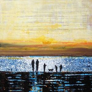 Image of Walk near Rock - September Golden Sunset