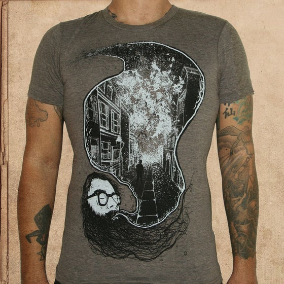 Image of Howl - triblend coffee - discharge inks - unisex