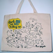 "Image of ""Thank you for not killing us."" Tote Bag"