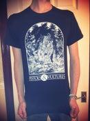 Image of NEW Black T-Shirt with Bone White Print