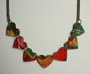 """Image of """"Tin Pan Alley"""" Heart Necklace"""