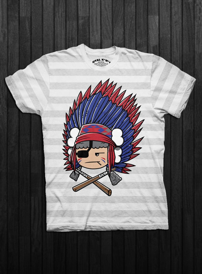Image of Chief Atama (Ash-White Stripes/Heather Grey/Black)