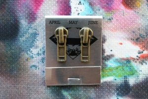 Image of Brass Patina Zippers (Small), Zipper Pull Earrings
