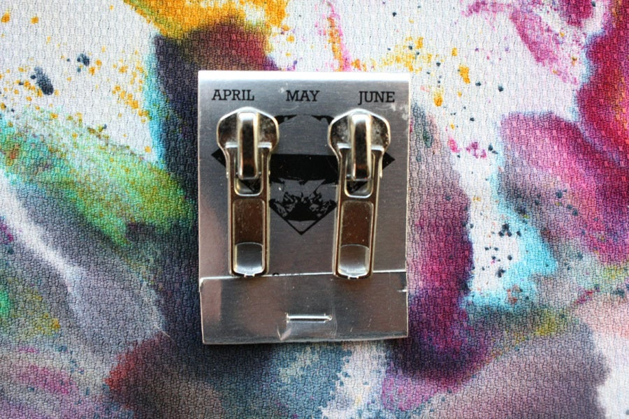 Image of  Silver Zippers (Big), Zipper Pull Earrings