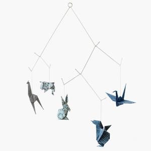 Image of Zoo mobile - Chyogami bleu - V2