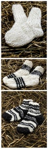 Image of Handmade wool socks for kids.