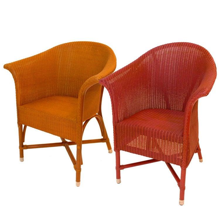 Image of Lloyd Loom Arm Chairs